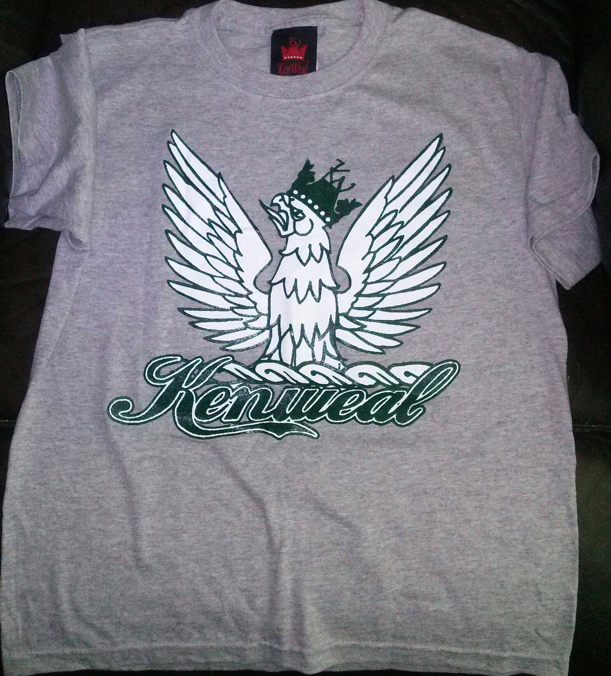 KenWeal Symbol T-shirt Athletic Heather Forest Green White Children