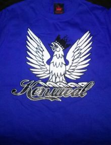 KenWeal Symbol T-shirt Royal Blue Black White Children